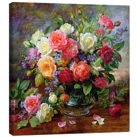 Canvas-taulu  Roses - the perfection of summer - Albert Williams
