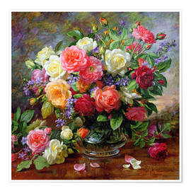 Juliste  Roses - the perfection of summer - Albert Williams