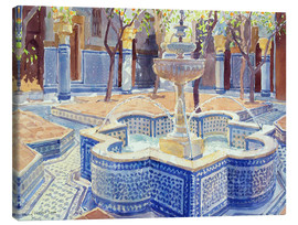 Canvas-taulu  The blue fountain - Lucy Willis