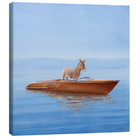 Canvas-taulu  Donkey in a boat - Lincoln Seligman
