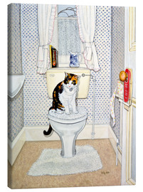 Canvas-taulu  Cat on the Loo - Ditz