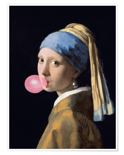 Juliste The Girl with a Pearl Earring (gum)