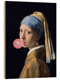 Puutaulu  The Girl with a Pearl Earring (gum)