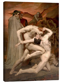Canvas-taulu  Dante and Virgile - William Adolphe Bouguereau