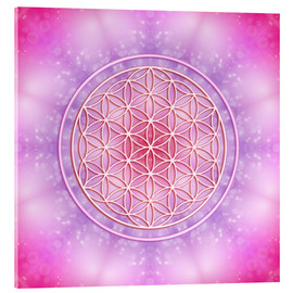 Akryylilasitaulu  Flower of life - unconditional love - Dolphins DreamDesign