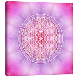 Canvas-taulu  Flower of life - unconditional love - Dolphins DreamDesign