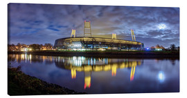 Canvas-taulu  Bremen stadium in the moonlight - Tanja Arnold Photography
