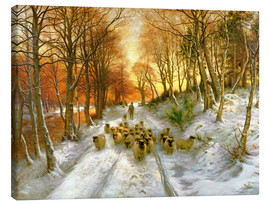 Canvas-taulu  Glowed with Tints of Evening Hours - Joseph Farquharson