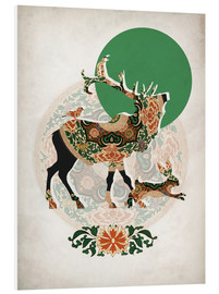 PVC-taulu  Stag, bird and hare - Mandy Reinmuth