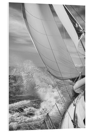 PVC-taulu  Sailing black / white - Jan Schuler