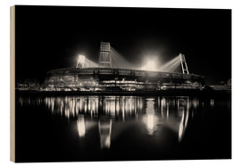 Puutaulu  Bremen Stadium black / white - Tanja Arnold Photography