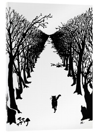 Akryylilasitaulu  The cat who went for a walk with himself - Rudyard Kipling