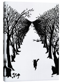 Canvas-taulu  The cat who went for a walk with himself - Rudyard Kipling
