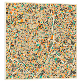 PVC-taulu  Madrid map - Jazzberry Blue