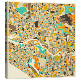 Canvas-taulu  Melbourne Map - Jazzberry Blue