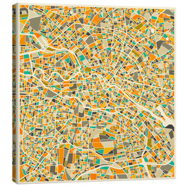 Canvas-taulu  Berlin map colorful - Jazzberry Blue