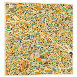 PVC-taulu  Berlin map colorful - Jazzberry Blue