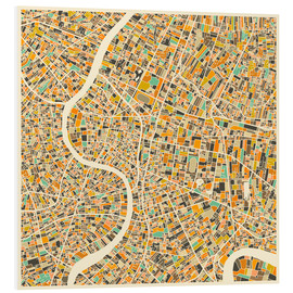 PVC-taulu  Bangkok Map - Jazzberry Blue