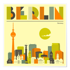Juliste  Berlin skyline - Jazzberry Blue