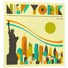 PVC-taulu  New York skyline - Jazzberry Blue