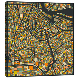 Canvas-taulu  Amsterdam Map - Jazzberry Blue