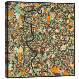 Canvas-taulu  Rome Map - Jazzberry Blue