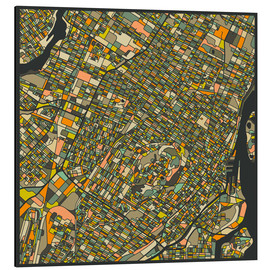 Alumiinitaulu  Montreal Map - Jazzberry Blue