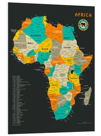 PVC-taulu  Africa Map - Jazzberry Blue