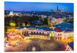 PVC-taulu  View from the Vienna Giant Ferris Wheel on the Prater - Benjamin Butschell