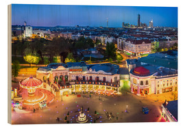 Puutaulu  View from the Vienna Giant Ferris Wheel on the Prater - Benjamin Butschell