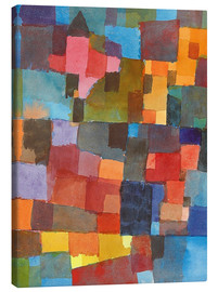 Canvas-taulu  Room Architectures - Paul Klee
