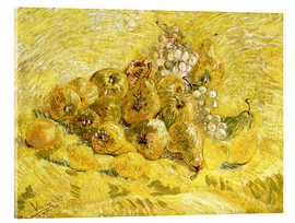 Akryylilasitaulu  Quinces, Lemons, Pears and Grapes - Vincent van Gogh