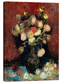 Canvas-taulu  Vase with Chinese Asters and Gladioli - Vincent van Gogh