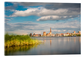 Akryylilasitaulu  View over the river Warnow to Rostock (Germany) - Rico Ködder