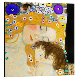 Alumiinitaulu  Mother and Child (detail) - Gustav Klimt