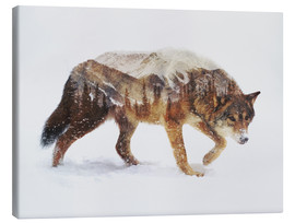 Canvas-taulu  Arctic Wolf - Andreas Lie