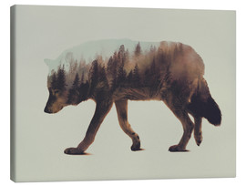 Canvas-taulu  Norwegian Woods The Wolf - Andreas Lie
