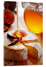 Akryylilasitaulu  Brie Cheese and Figs with honey - Johan Swanepoel