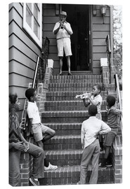 Canvas-taulu  Louis Armstrong in New York