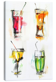Canvas-taulu  Colorful drinks