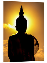 Akryylilasitaulu  Silhouette of Buddha in the temple