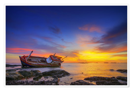 Juliste Shipwreck in the sunset
