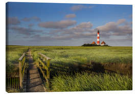 Canvas-taulu  Lighthouse in the salt marshes on the North Coast