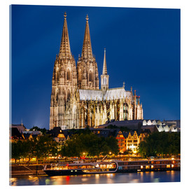 Akryylilasitaulu  Night view of Cologne Cathedral