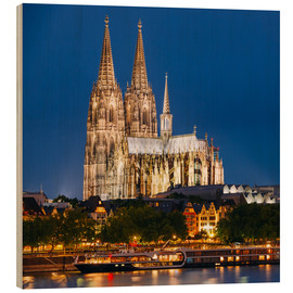 Puutaulu  Night view of Cologne Cathedral