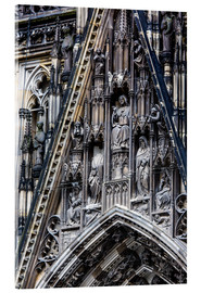 Akryylilasitaulu  Facades detail at Cologne Cathedral