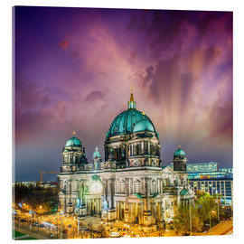 Akryylilasitaulu  Berliner Dom - German Cathedral at sunset