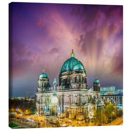 Canvas-taulu  Berliner Dom - German Cathedral at sunset