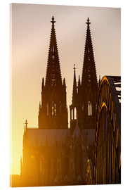 Akryylilasitaulu  Sunset behind the Cologne Cathedral