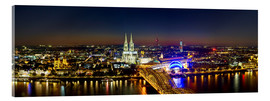 Akryylilasitaulu  A panoramic view of cologne at night
